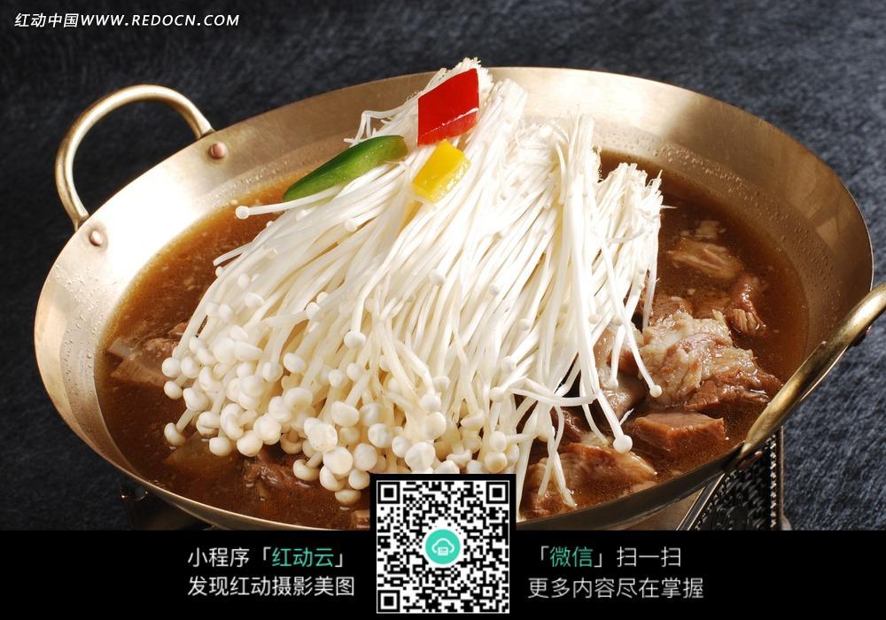 锅仔v羊肉羊肉美食香香撸串美食图片
