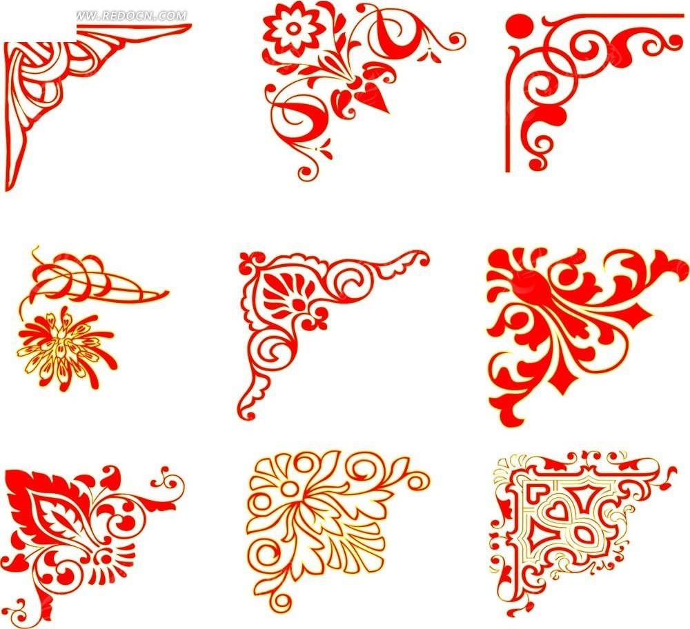 精美欧式花纹cdr素材免费下载(编号3308937)_红动网图片