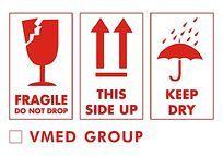 英文易碎防潮向上警示标识