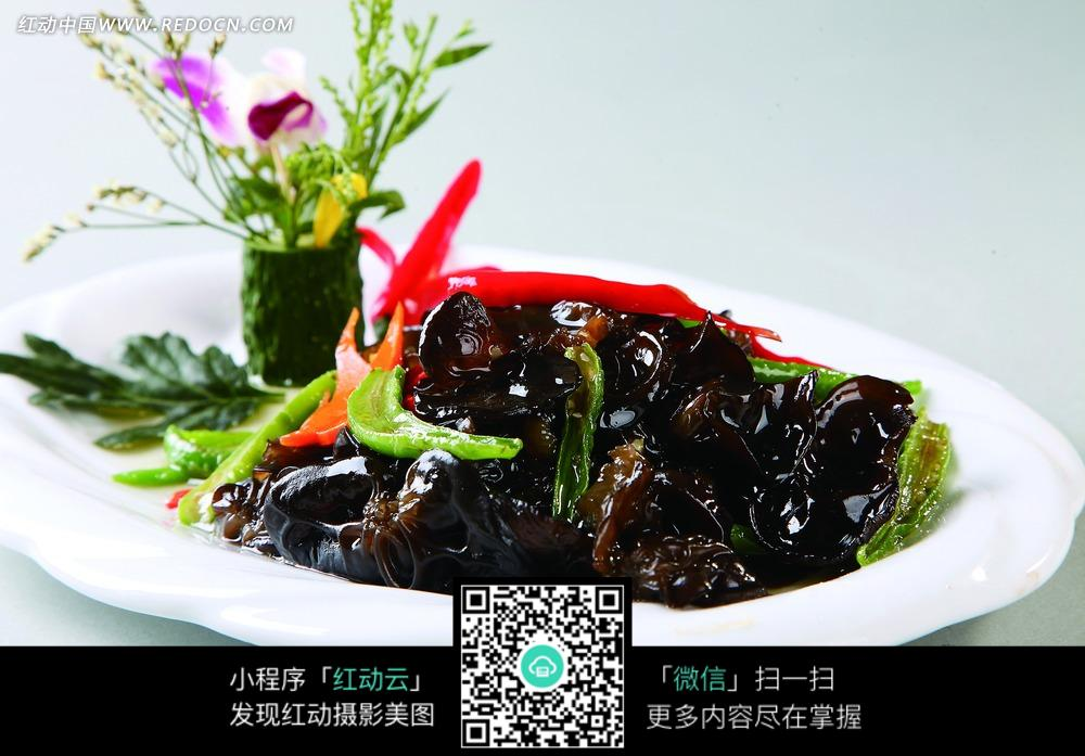 杭椒炒笋干美食菜品