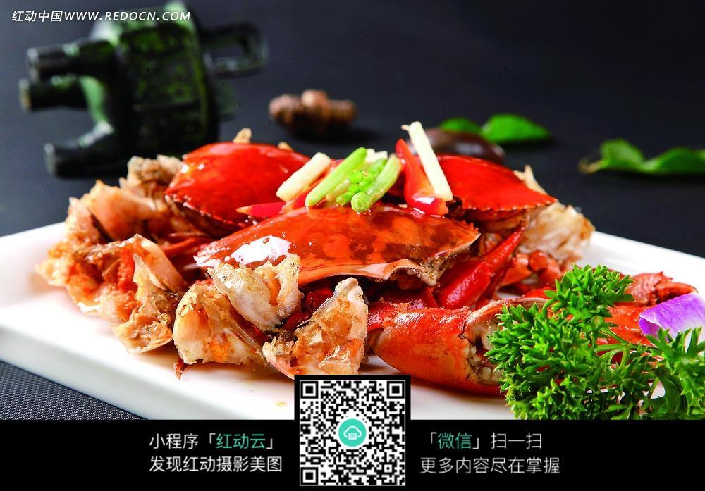 姜葱炒肉蟹图片-美食图库 图片库素材下载(编号:3337405)