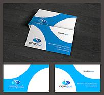 蓝色简洁企业名片模板
