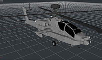 C4D武装直升机模型