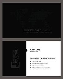 黑白简洁商业名片设计模板EPS