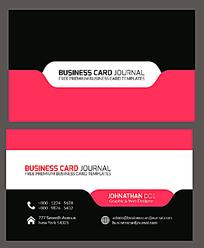 红黑白三色商业名片设计模板EPS