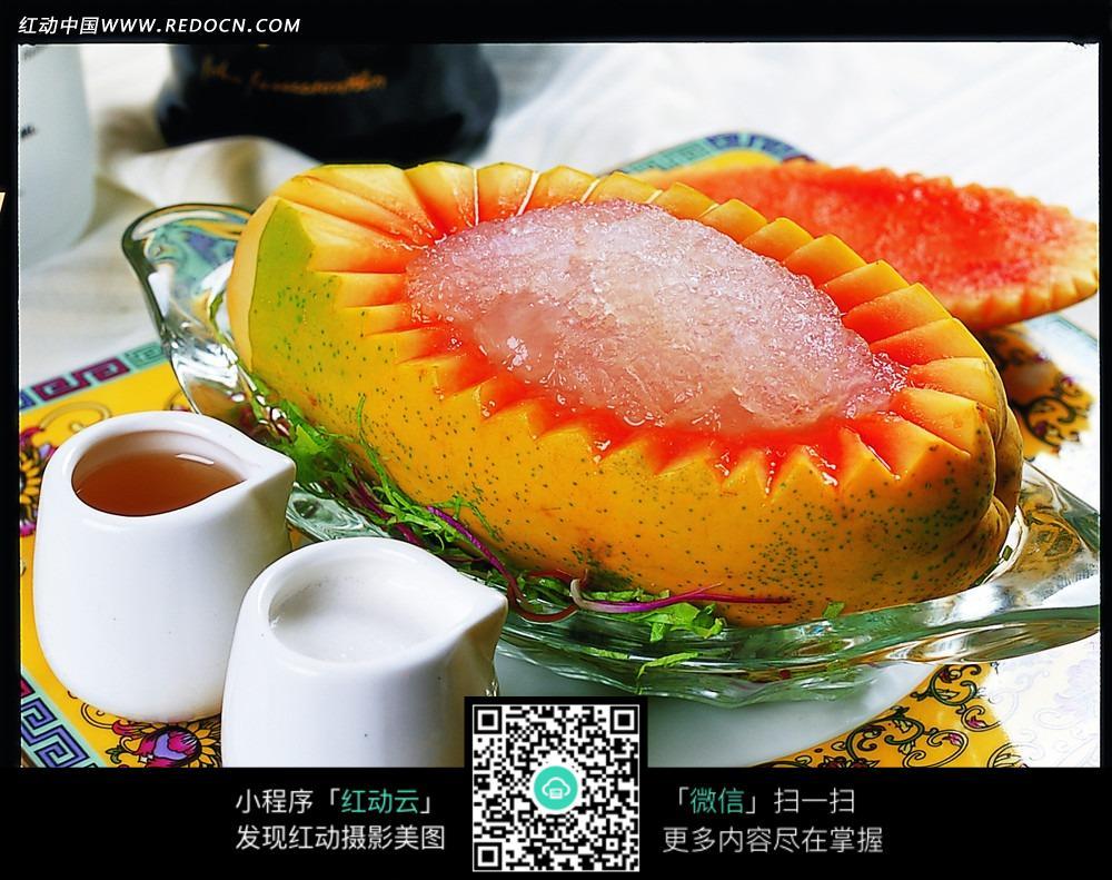 木瓜炖雪蛤甜品图片