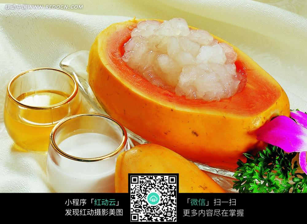 木瓜炖雪蛤美食图片