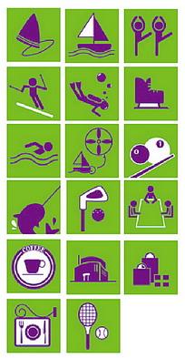 体育运动场图标图片