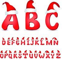 圣诞节26英文字母设计