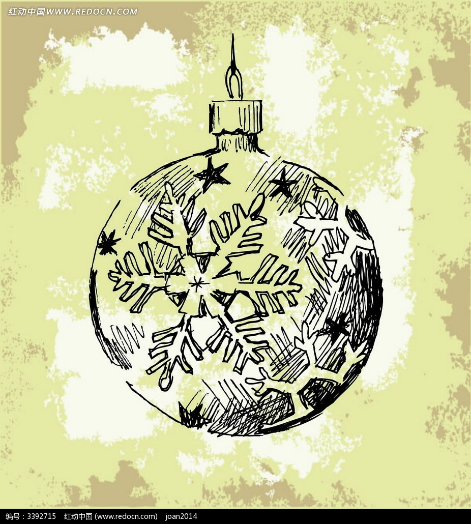 手绘圣诞球