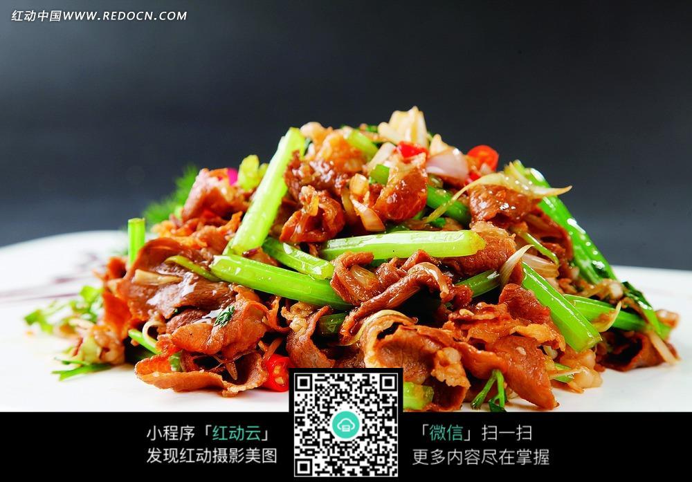 免费素材 图片素材 餐饮美食 中华美食 干葱香芹爆肥牛