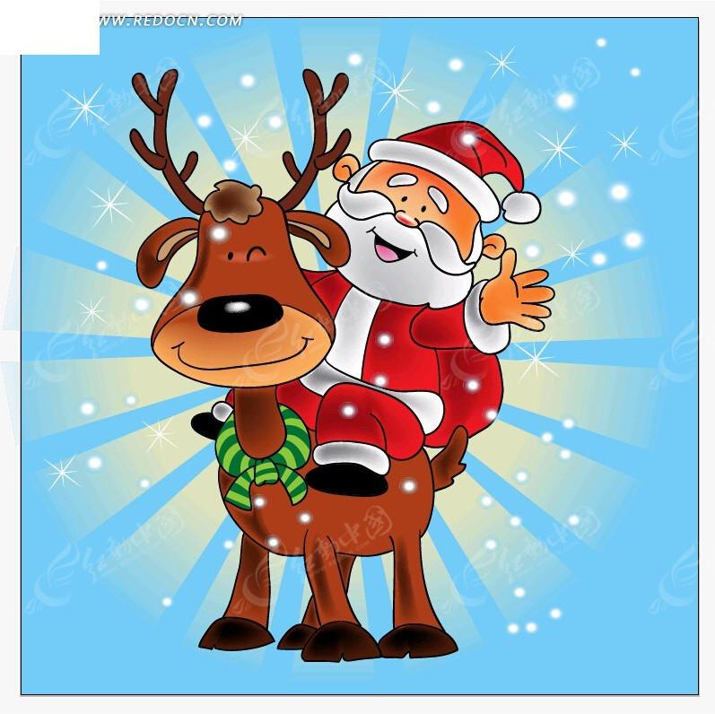 圣诞节卡通海报素材EPS免费下载 圣诞节