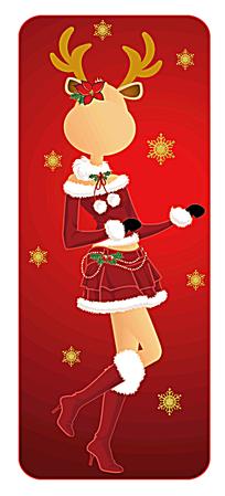 折纸圣诞贺卡素材