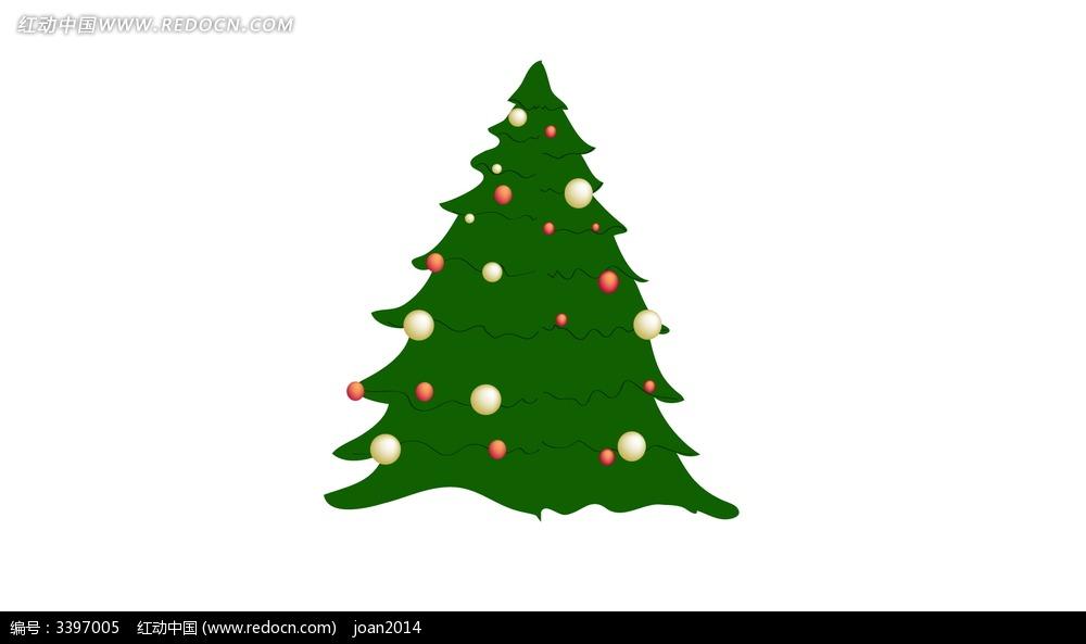 圣诞树手绘素材psd