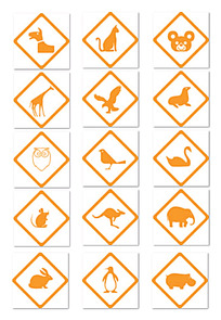 矢量动物标识
