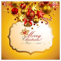 金色高档圣诞节日卡片