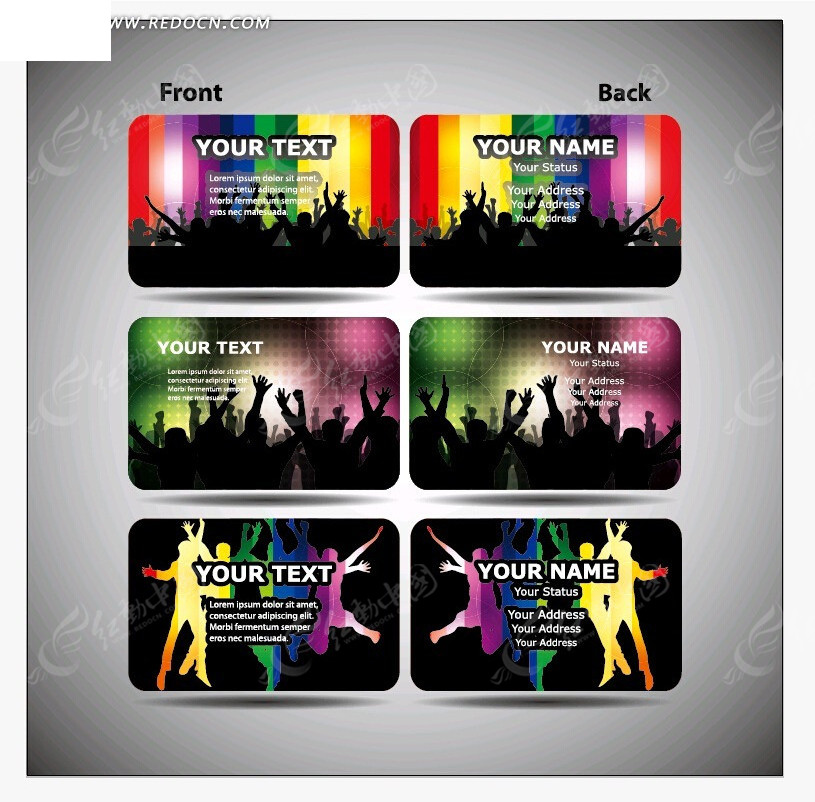 酒吧夜店名片模板eps免费下载_名片卡片吊牌素材