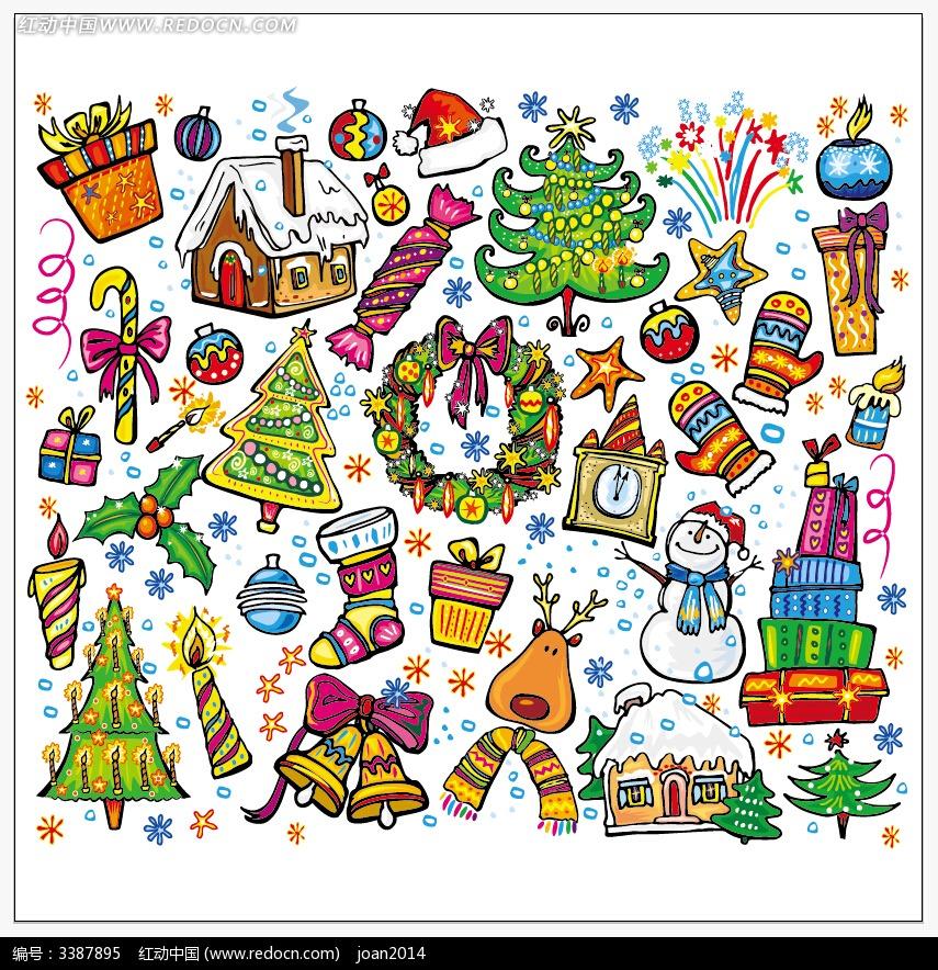 儿童手绘圣诞贺卡