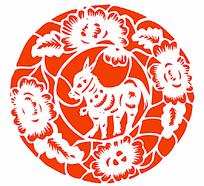 中国传统剪纸羊