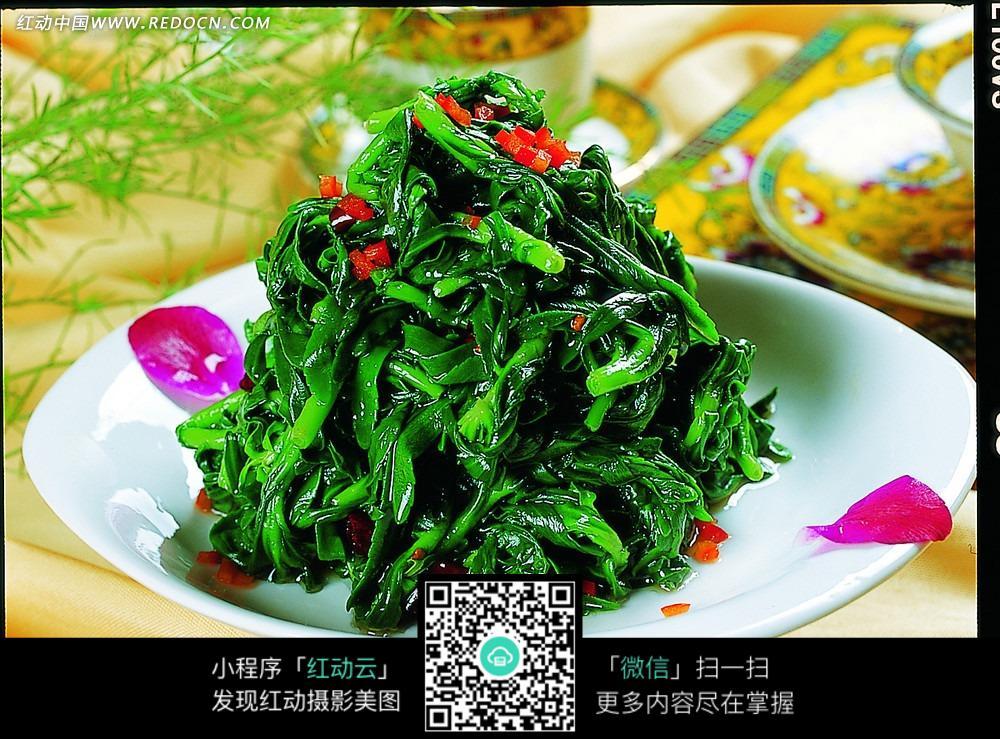 剁椒炒茼蒿菜图片-美食图库|图片库素材下载(编号:3418539)