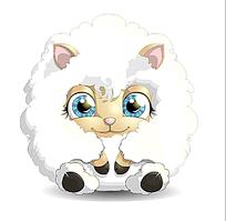 可爱卡通绵羊
