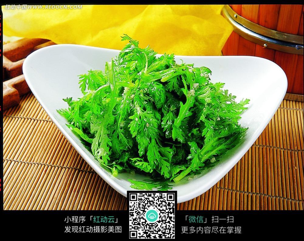 清炒茼蒿菜图片-美食图库|图片库素材下载(编号:3412931)