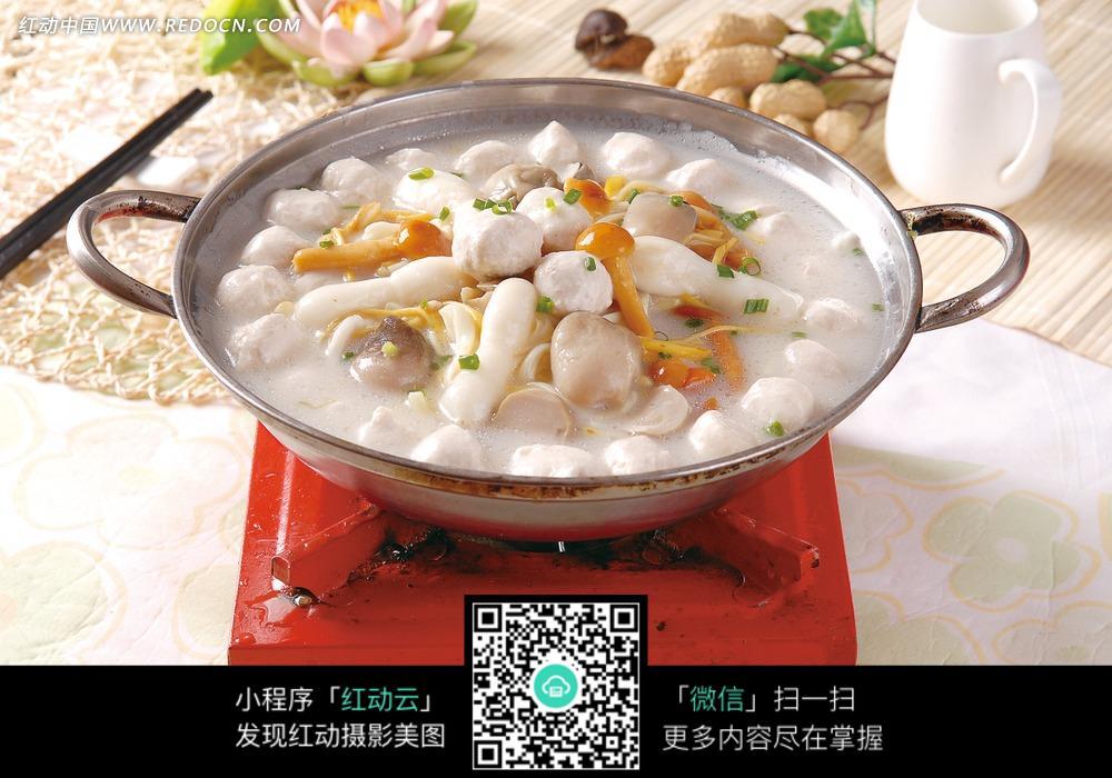 三鲜珍菌烩鱼丸图片免费下载 编号3456859 红动网