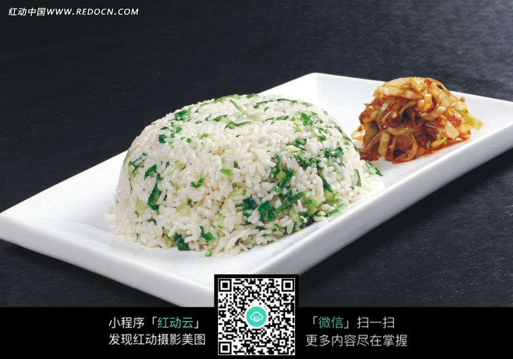青菜炒饭图片
