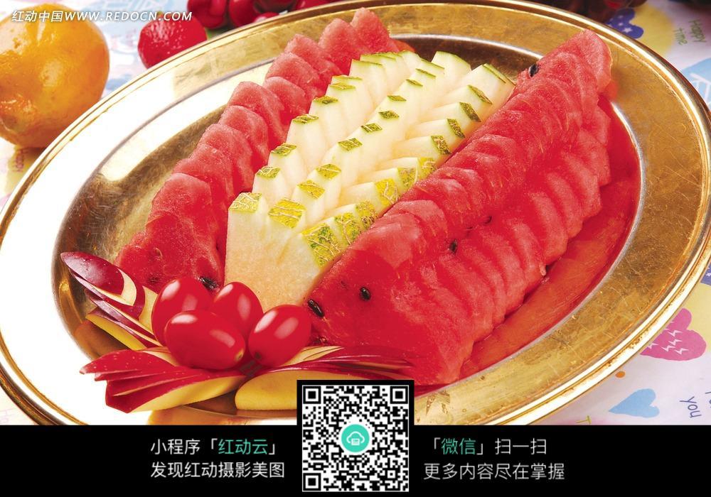 创意水果拼盘 简单的水果拼盘 嗨明图片站