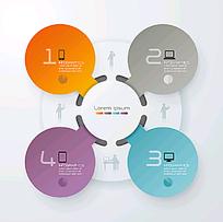 分类标签信息图表背景