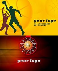 篮球俱乐部折页式名片