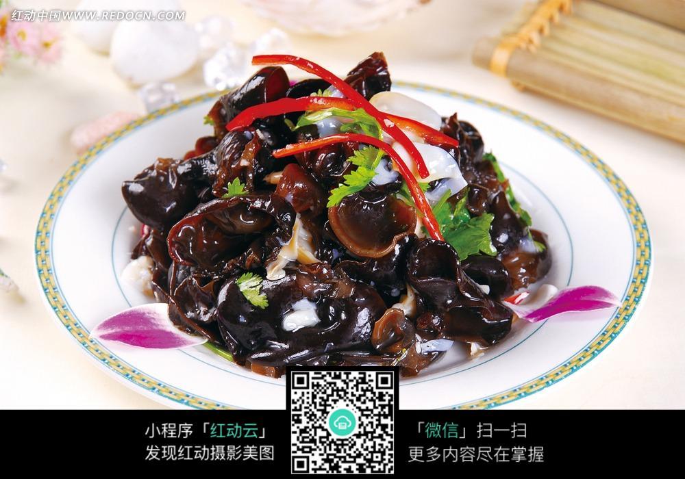 黑木耳拌乌鱼蛋图片_中华美食图片图片