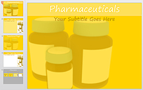 暖黄色药瓶背景ppt