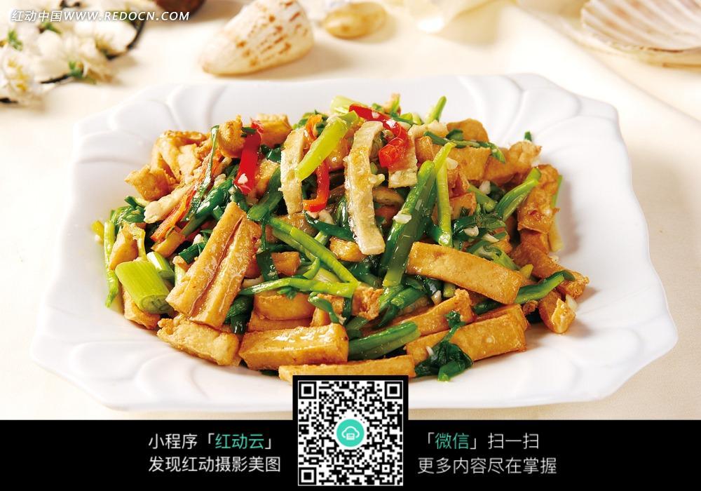 韭菜豆腐炒鱼菘图片免费下载 编号3469515 红动网