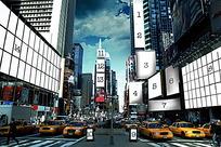 都市户外广告背景素材