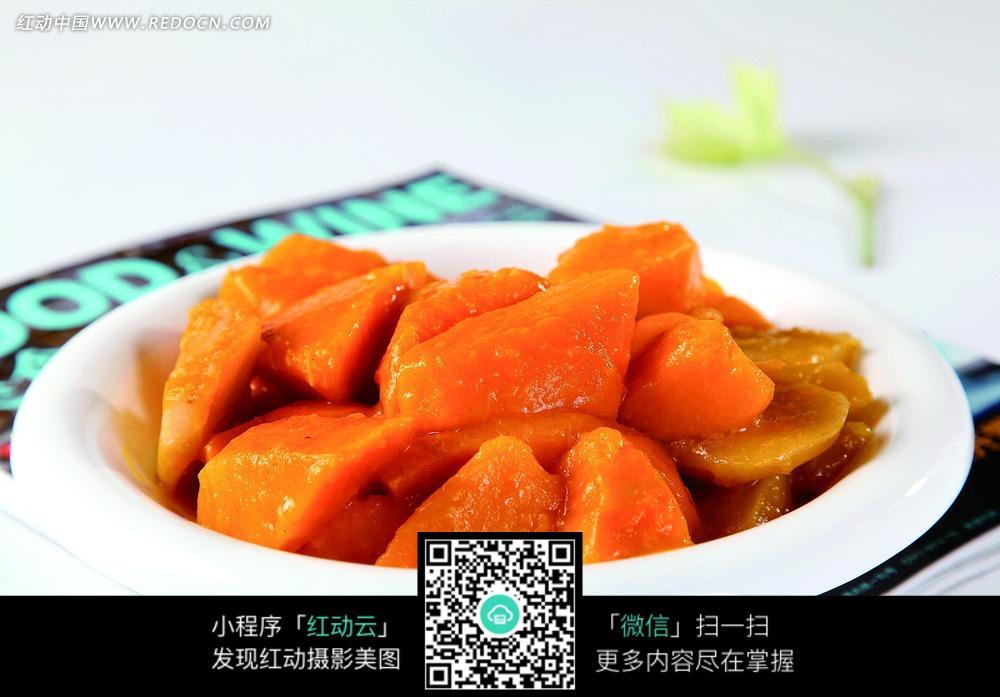 土豆焖金瓜美食图片