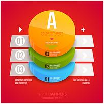 彩色数据统计图表矢量素材