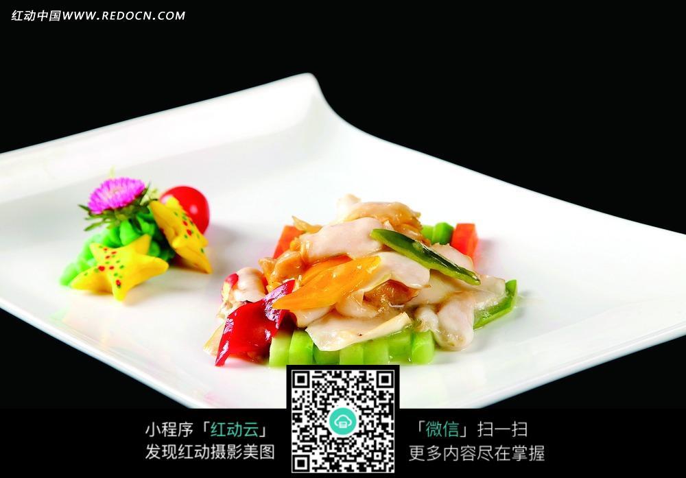 日本青芥辣炒海螺片图片图片