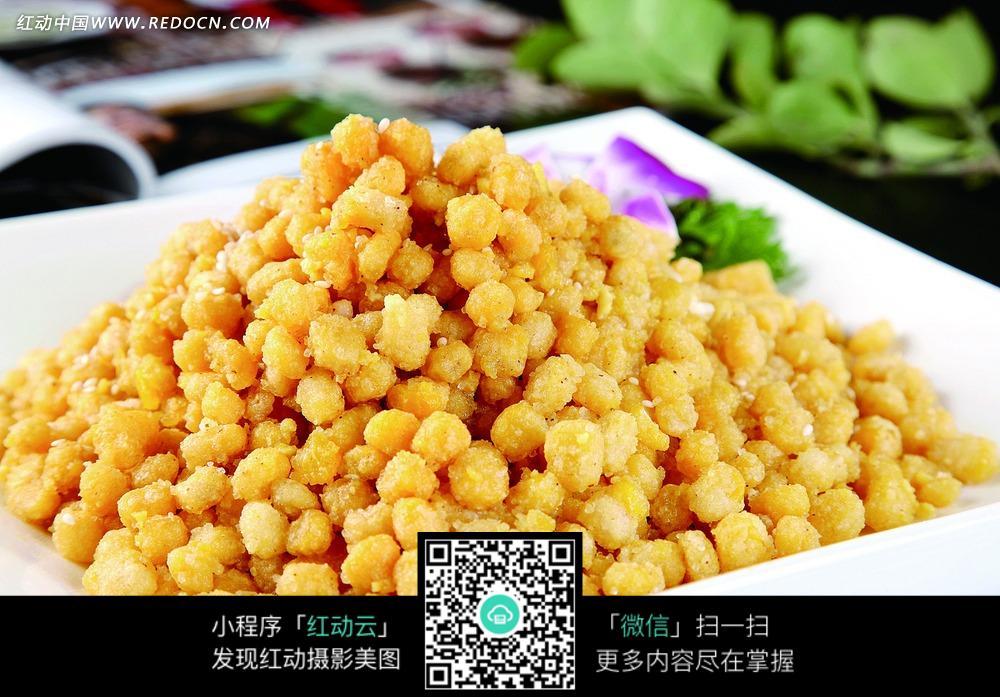 黄金玉米粒美食图片