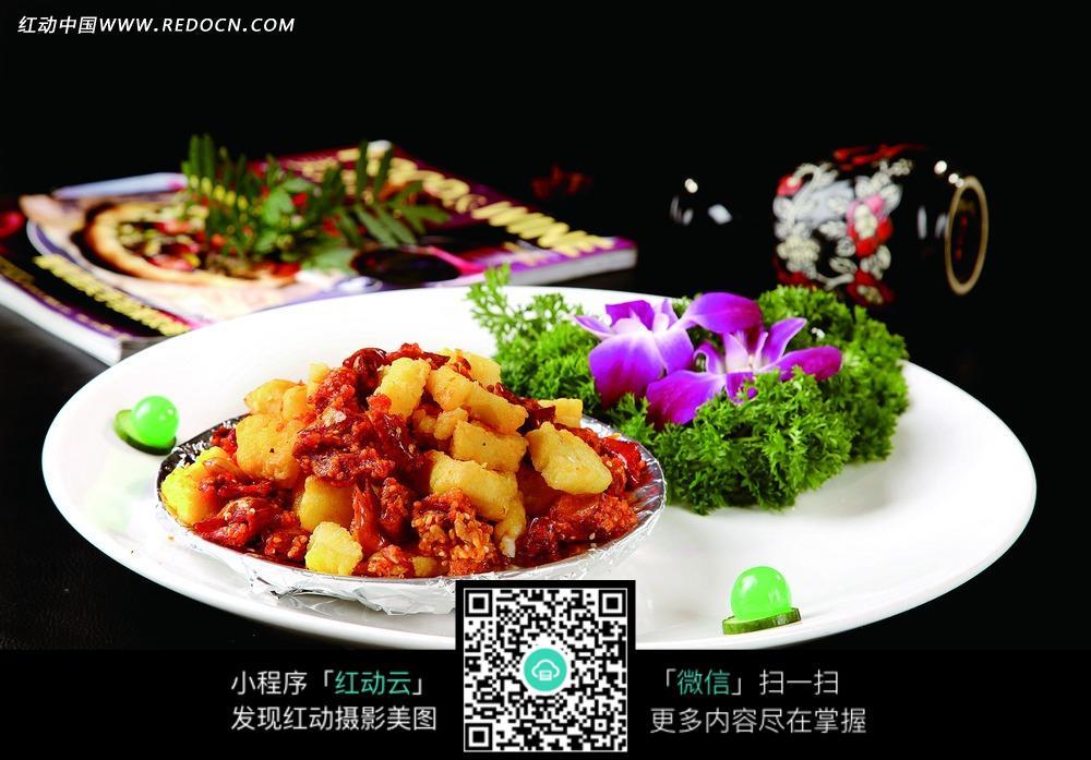 香辣银鳕鱼美食图片图片