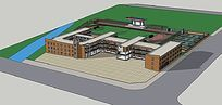 延津学校3d模型