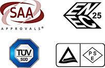SAA ENEC TUV PSE认证标志