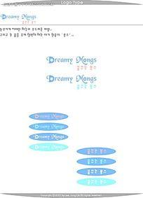 英文韩文字体素材AI