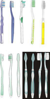 牙刷立体图线框图