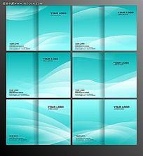 蓝色曲面背景画册封面设计