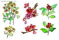 手绘鲜花素材