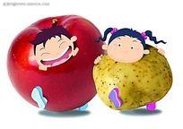 水果蔬菜小朋友