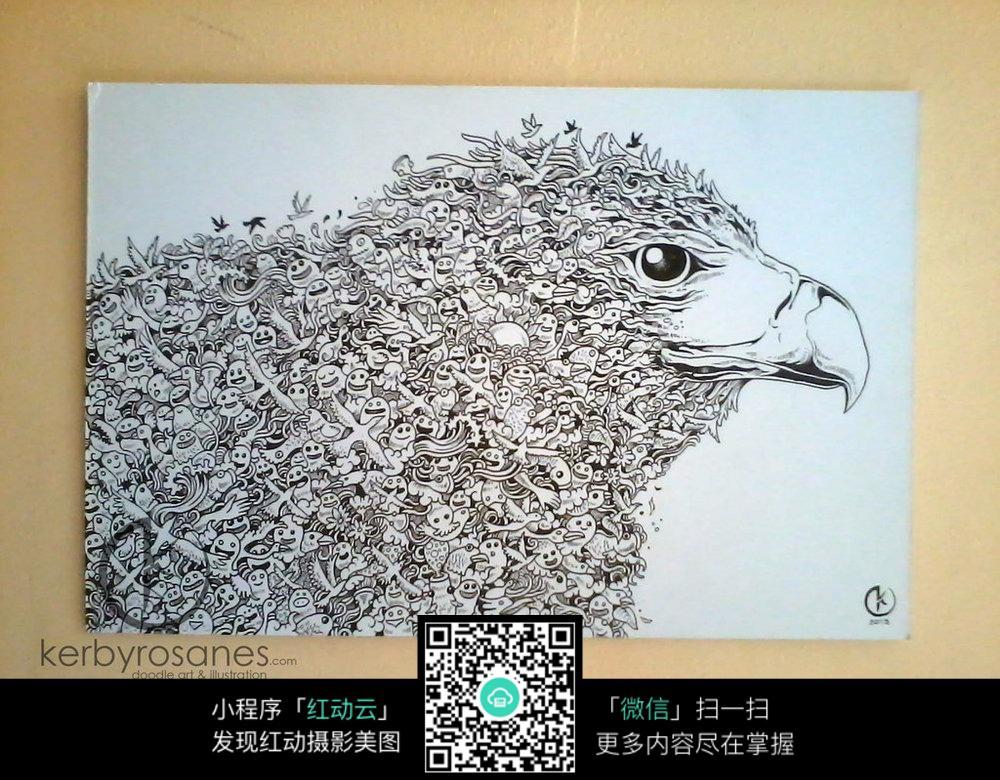 黑白涂鸦表情漫画_人物卡通图片