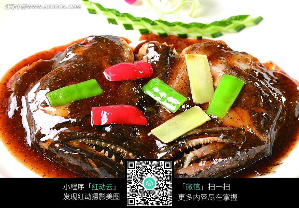 黑椒深海鱼头图片_中华美食图片图片