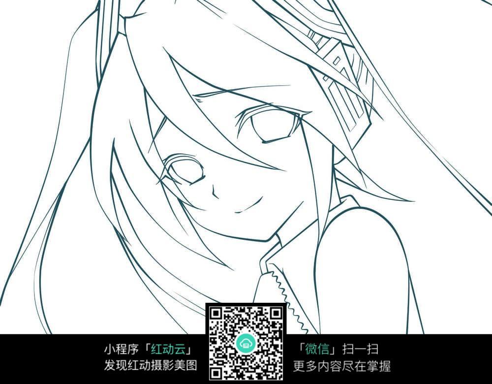 日本动漫线描图